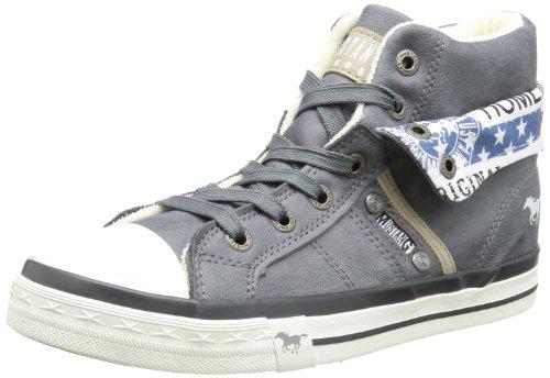 Mustang 5024-501-824, Unisex-Kinder Hohe Sneakers, Blau (824 arktik), 32 EU