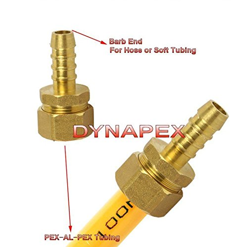 - Pex-Al-Pex Tubing Tube Fitting 1/2
