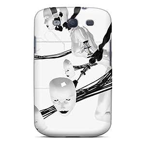 Defender Case For Galaxy S3, Robotic Head Pattern