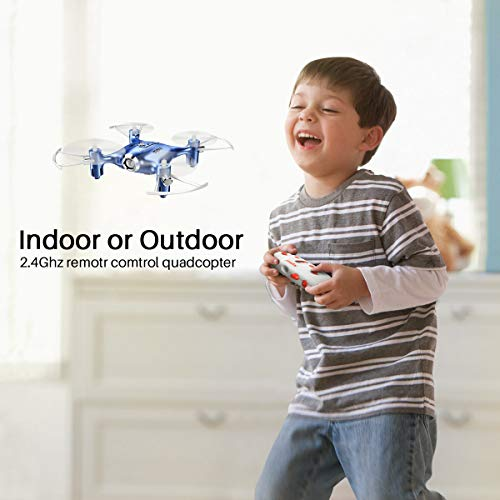 Mini Drone for Kids/Beginners, Pocket RC Drone with Altitude Hold, Headless Mode, One Key Return,3D Flip, Speed Adjustment 2.4G 4 Channel 6 Axis Quadcopter Indoor UFO Flying Toy
