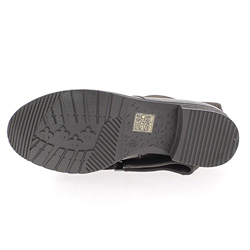 Bridleways Brown Stiefel mit Absatz 3,5 cm aussehen zurückgegeben, Leder und Kautschuk