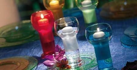 12 x botella de cristal, color turquesa, tamaño grande flotante portavelas y velas (excepcional Valor verano venta): Amazon.es: Hogar