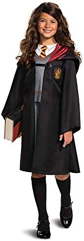 Harry Potter Hermione Granger Classic Girls Costume, Black & Red, Kids Size Small (4