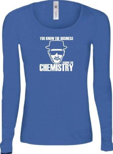 Shirtstown - Camiseta - Manga Larga - Mujer Azul Real