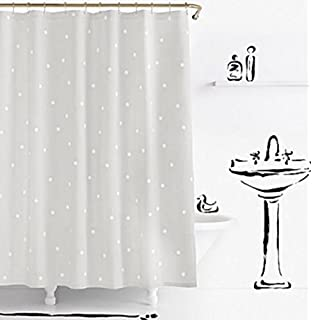 Kate Spade Deco Dot Fabric Shower Curtain 72x72