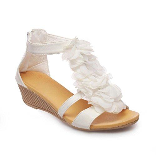 La Modeuse-Sandalias de piel sintética Blanco - blanco