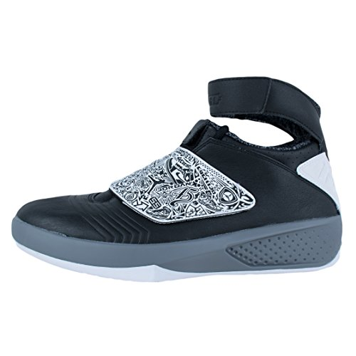 Nike Air Jordan XX, Zapatillas de Baloncesto para Hombre Negro / Blanco / Gris (Black / White-Cool Grey)