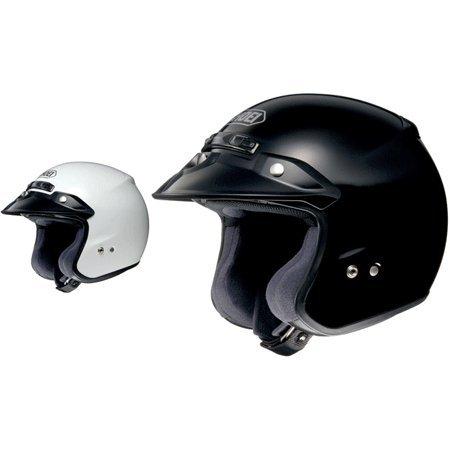 (Shoei RJ Platinum R Open-Face Helmet - Medium/Black)