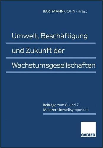 Download e book for kindle umwelt besch ftigung und zukunft der by hermann bartmann klaus - Fensterbauer frankfurt ...