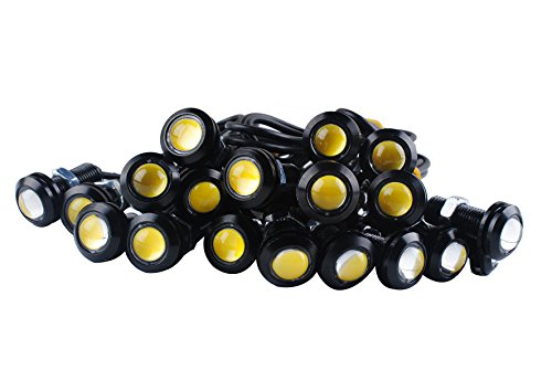 Femitu Eagle Eye Led Lights Universal Fog Lights High Power Yellow 12V 3W Led Rock Daytime Running Car Motor Clearance Marker Lights Lamp Set 10 -