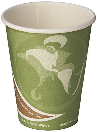 Eco-Products ECOEPBRHC12EWPK Evolution World PCF Hot Cups, Post-Consumer Fiber, Recycled, 12 oz (250 pack)