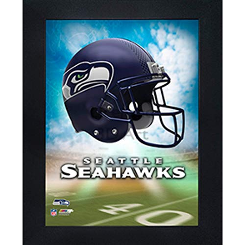 Seattle Seahawks 3D Poster Wall Art Decor Framed Print | 14.5x18.5 | Lenticular Posters & Pictures | Memorabilia Gifts for Guys & Girls Bedroom | NFL Football Team Sports Fan -