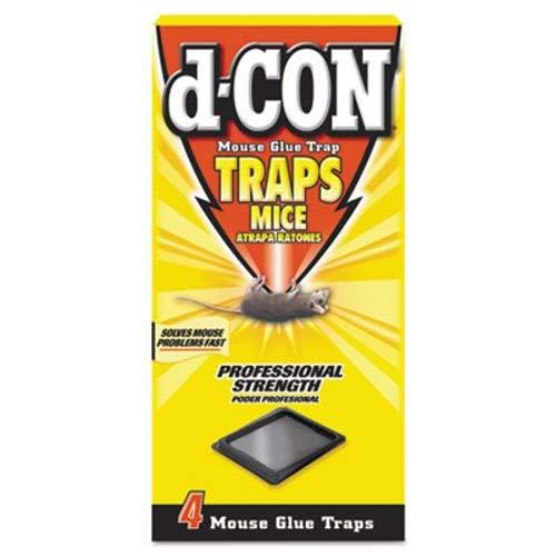 d-CON Mouse Glue Trap, Plastic - Includes four packs of 12 each.