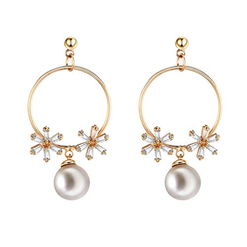 (Jocund Women Fashion Creative Heart Shape European and American Long Earrings Wild Ladies Fashion Jewelry)