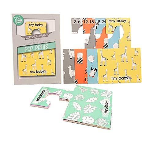 patrones Separadores para armario de Beb/é Belo Me patrones| Paquete de 8 Perchas para armario de doble cara Se adapta a todos los rieles est/ándar para armarios