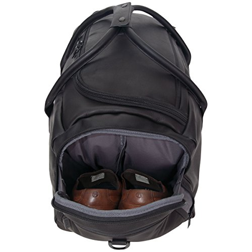 """41MuFBkm83L - Kenneth Cole Reaction Duff Guy Colombian Leather 20"""" Single Compartment Top Load Travel Duffel Bag, Black"""
