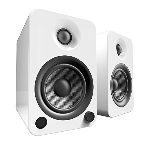 "Kanto 4"" Wireless 2-Way Bookshelf Speakers (Pair) Gloss white YU4GW"