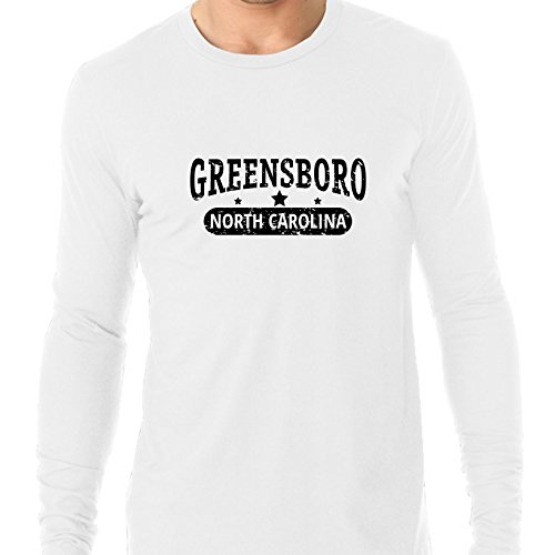 Hollywood Thread Trendy Greensboro, North Carolina With Stars Men's Long Sleeve T-Shirt -
