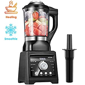 AICOOK Blender for Cooking and Smoothies, Professional Blender Including 60 oz Quality Glass Jar with Heating Element…