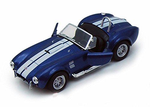 - 1965 Shelby Cobra 427 S/C Convertible, Blue with White Stripes - Kinsmart 5322DBU - 1/32 Scale Diecast Model Replica (Brand New, but NO BOX)