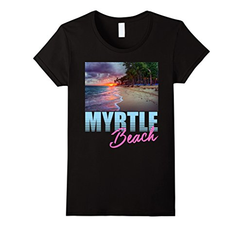 Women's Ocean At Sunset Myrtle Beach T-Shirt Medium - Myrtle Beach Women