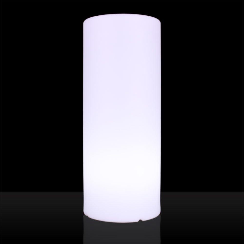S Luce Aurum Aussen Stehlampe Saule H75cm O30cm Matt Weiss Sr31075