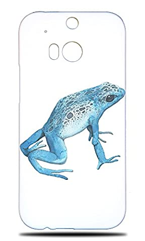 Foxercase Designs Blue Frog Hard Back Case Cover For HTC One M8 (Htc One M8 Case Frog)