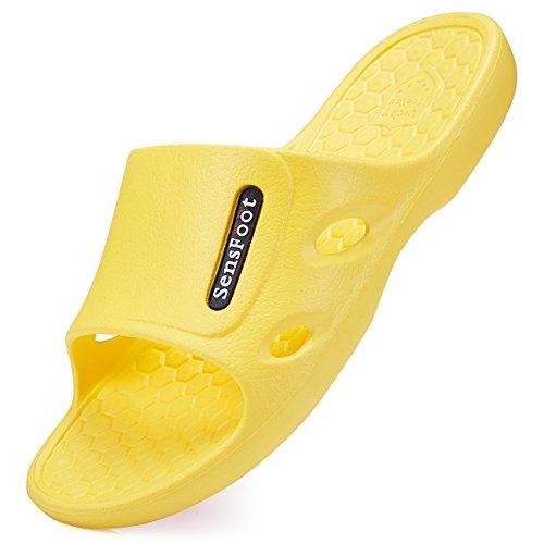 Pantoufles Antidérapantes Sensfoot Pour Les Femmes Enceintes Chaussures Dintérieur Âgées Jaune