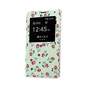 Floral Auto Sleep/Wake-Up Function Full Body Case with Lace for Samsung S5/i9600
