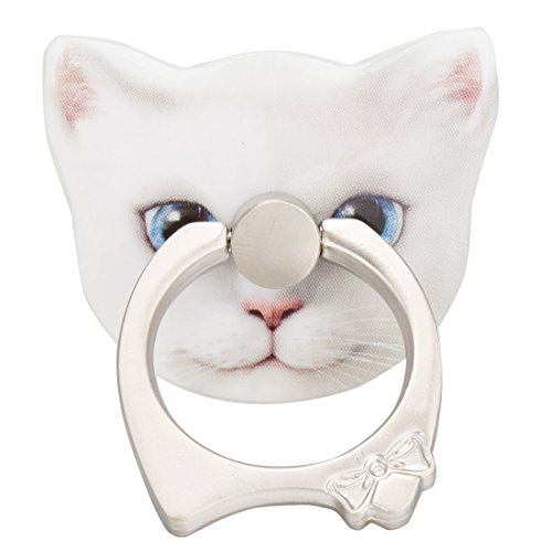 FEESHOW Phone Ring Holder Cellphone Stand, 360 Degree Rotating Finger Grip Phone Holder 3D Animal Ring Grip Kickstand (White (Best Film Halloween Costumes)