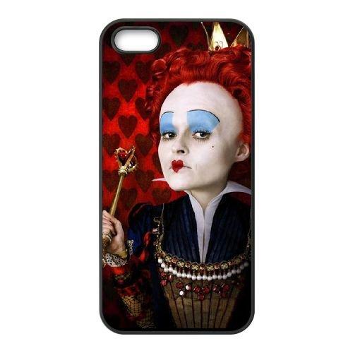 Alice In Wonderland 023 coque iPhone 5 5S cellulaire cas coque de téléphone cas téléphone cellulaire noir couvercle EOKXLLNCD21537
