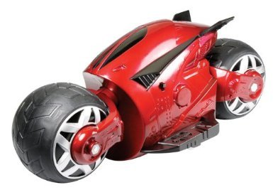 Toy / Game Kid Galaxy Powered Cyber Cycle - Red With Hidden Wheels - For Sleek-Riding Slides And Maneuvers