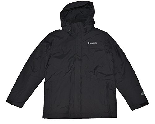 - Columbia Men's Arctic Trip II Interchange Jacket-Black-Large