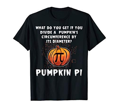 Halloween Pumpkin Pi Funny Math Geometry T-Shirt For Teacher -
