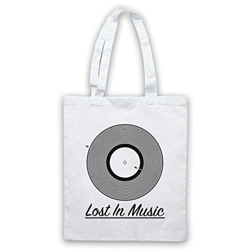 Music Vinyl Record In Lost Tote Bag White Maze Groove P5Cqww