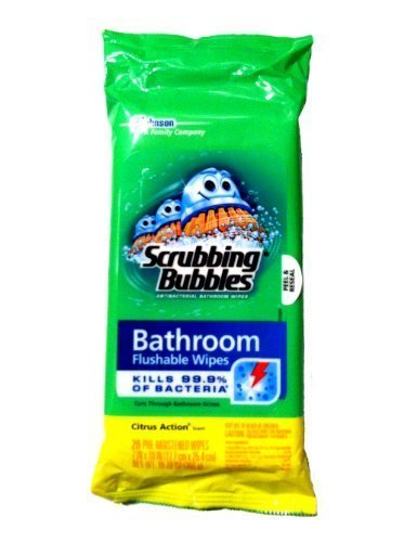 Scrubbing Bubbles Flushable Bathroom Wipes, 28 Count, (Pack of 3) (Flushable Toilet Cleaner compare prices)