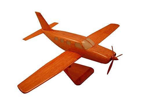 - Piper Malibu Mirage Mahogany wood Airplane model