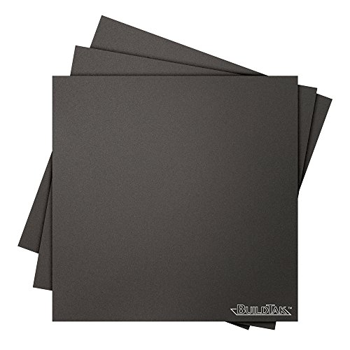 Buildtak BT08X08-3PK Impression 3D Construire Surface, 8″ x 8″, Carré, Noir (Paquet de 3)