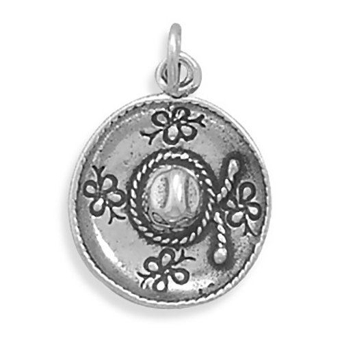 - Corinna-Maria 925 Sterling Silver Mexican Hat Sombrero Charm