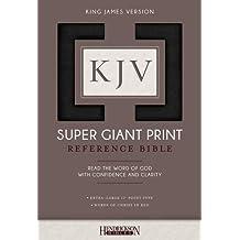 KJV Super Giant Print Bible - Black Imitation Leather