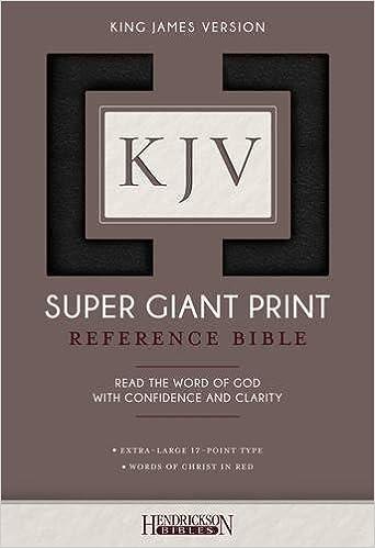 KJV Super Giant Print Bible: Hendrickson Bibles: 9781619709690