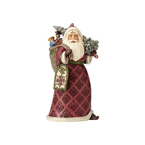 Enesco Jim Shore Heartwood Creek Dreaming of Christmas Past Stone Resin Santa, 9.5