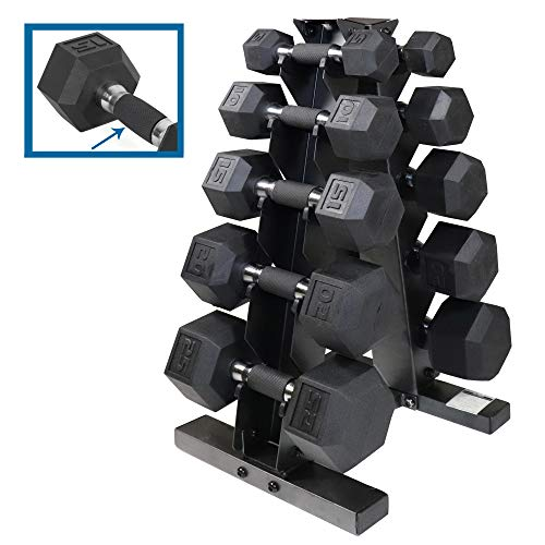 CAP Barbell 150/280/590 LB PVC-Coated Hex Dumbbell Pairs Set or