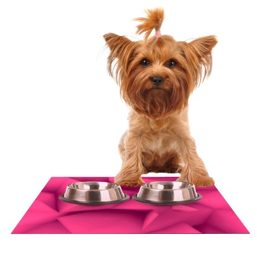 Kess InHouse Danny Ivan Purple Surface Feeding Mat for Pet Bowl, 18 by 13-Inch