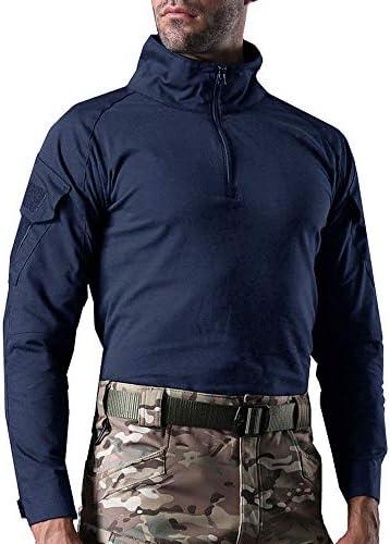 タクティカルウェア メンズ ミリタリーシャツ 長袖 戦闘服 サバゲー ファッション コンバットシャツ ハイネック 作業シャツ