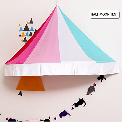 Canopy Tent Color (Asweets Kids Tent for Indoor Decor Wall Hanging Canopy Tent for Kids Rainbow Color Half Mood Style by)