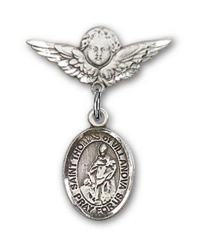 Icecarats Créatrice De Bijoux En Argent Sterling St. Thomas De Villeneuve Charme Ange Pin Badge 7/8 X 3/4