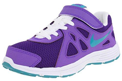 Nike Revolution 2 (PSV) - Trainers, Girl, Purple - (crt prpl/TRB GRN-prpl vnm-Whit), 28.5