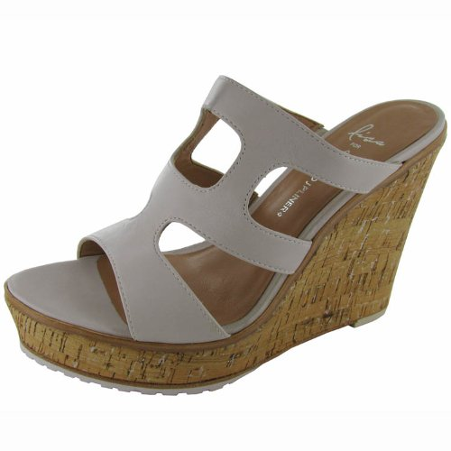 Lisa for Donald J Pliner Womens 'Kloe-08CM' Wedge Shoe, Canvas/Silver, US 10