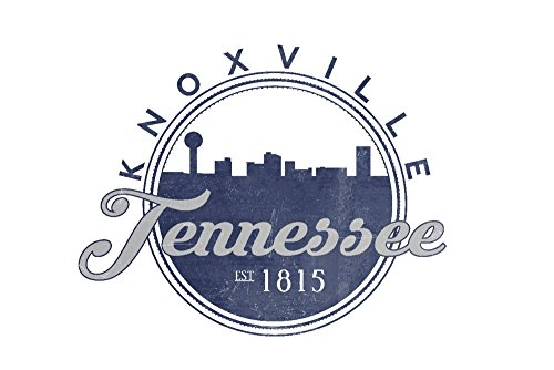 Knoxville, Tennessee - Skyline Seal (Blue) (24x36 SIGNED Print Master Giclee Print w/ Certificate of Authenticity - Wall Decor Travel - Images Knoxville